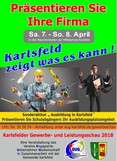 6. Karlsfelder Gewerbe- und Leistungsschau am 07/08. April 2018